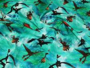 Cotton Jersey Fabric  Turquoise