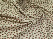 Christmas Calico Fabric  Natural