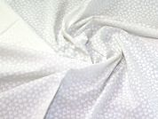 Woven Cotton Fabric  White on White