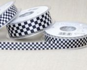 Chequered Flag Satin Ribbon