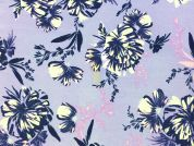 John Kaldor Floral Print Peachskin Dress Fabric  Lilac