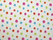 Spotty Print Stretch Jersey Knit Dress Fabric  Multicoloured