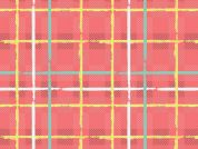 Art Gallery Fabrics Electric Watermelon Plaid Stretch Jersey Knit Dress Fabric