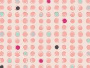 Art Gallery Fabrics Dots Burst Melon Stretch Jersey Knit Dress Fabric
