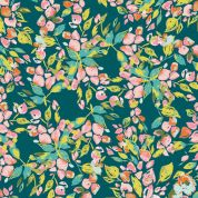 Art Gallery Fabrics Bougainvillea Evergreen Stretch Jersey Knit Dress Fabric