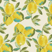 Art Gallery Fabrics Yuma Lemons Mist Stretch Jersey Knit Dress Fabric