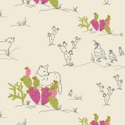 Art Gallery Fabrics Coyote & Quail Jojoba Stretch Jersey Knit Dress Fabric
