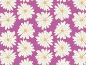 Art Gallery Fabrics Daisies Lilac Scent Stretch Jersey Knit Dress Fabric
