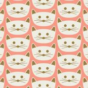 Art Gallery Fabrics Cat Nap Pink Stretch Jersey Knit Dress Fabric