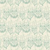 Art Gallery Fabrics Pug Ville Vert Stretch Jersey Knit Dress Fabric
