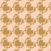 Art Gallery Fabrics Deer Houndstooth Tan Stretch Jersey Knit Dress Fabric