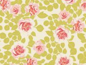 Art Gallery Fabrics Pruning Roses Citrus Stretch Jersey Knit Dress Fabric
