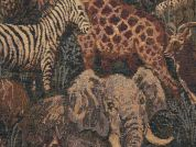 Safari Animals Tapestry Woven Home Fabric  Multicoloured