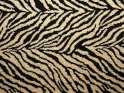 Zebra Tapestry Woven Home Fabric  Black & Gold