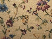 Floral Tapestry Woven Home Fabric  Multicoloured