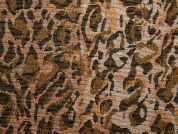 Animal Print Tapestry Woven Home Fabric  Brown & Gold