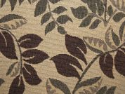 Leaf Tapestry Woven Home Fabric  Beige & Brown