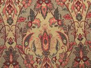 Decorative Tapestry Woven Home Fabric  Red & Gold
