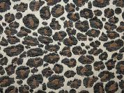 Animal Print Tapestry Woven Home Fabric  Black & Gold