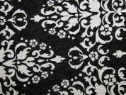Decorative Tapestry Woven Home Fabric  Black & Ivory