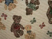 Teddy Bear Tapestry Woven Home Fabric  Multicoloured