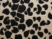 Animal Print Tapestry Woven Home Fabric  Black & Cream