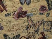 Butterfly Tapestry Woven Home Fabric  Multicoloured