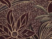 Floral Tapestry Woven Home Fabric  Wine