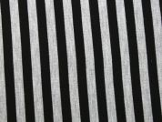 Stripe Ponte Roma Stretch Jersey Knit Dress Fabric  Black & Grey