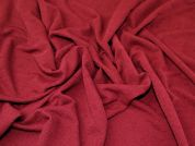 Textured Jersey Knit Fabric  Wine