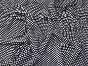 Textured Jersey Knit Fabric  Black & White