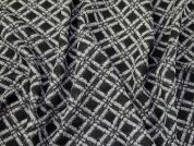 Textured Jersey Knit Fabric  Black & Grey
