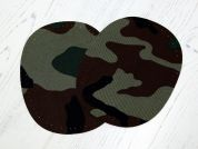 Camouflage Elbow & Knee Patches  Green