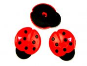 Fine Style Large Plastic Ladybird Shape Buttons