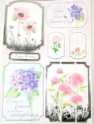 Kanban Card Craft Toppers Flowers In Bloom