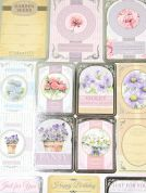 Kanban Card Craft Toppers Let Love Bloom Sentiments