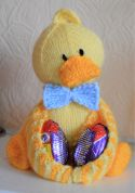 Knitting By Post Easter Ducky Egg Soft Toy Knitting Pattern  DK