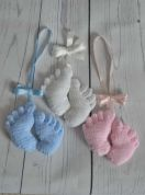 Knitting By Post Baby Feet Pram Charm Toy Knitting Pattern  DK