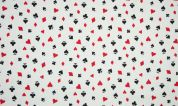 Cotton Jersey Knit Fabric  Red, Black & White