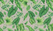 Laminated Cotton PVC Fabric  Green
