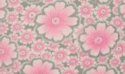 Plush Fleece Fabric  Pink & Grey