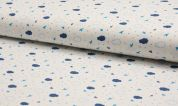 Printed Cotton Fabric  Blue
