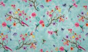 Cotton Jersey Knit Fabric  Turquoise