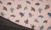 Fleece Back Sweatshirt Fabric  Pink