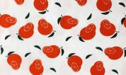 Cotton Jersey Knit Fabric  Orange