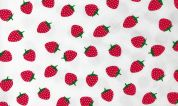 Cotton Jersey Knit Fabric  Strawberry