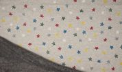 Fleece Back Sweatshirt Fabric  Sand