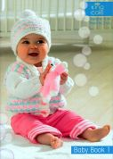 King Cole Baby Book 1 Knitting Pattern Book  DK