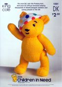 King Cole Children in Need Pudsey Bear Teddy Knitting Pattern 1001  DK