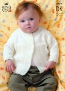 King Cole Baby Jackets & Sweater Merino Knitting Pattern 2777  DK